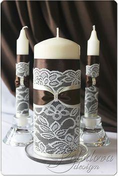 """Купить """"Париж в шоколадном"""" набор свадебных аксессуаров - коричневый, набор аксессуаров, набор для свадьбы"""