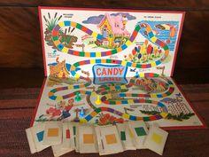 Vintage Candyland game, no box Candyland Games, Candyland Board Game, Find A Date, Dueling Banjos, Living In Alaska, Peppermint Sticks, Ice Cream Floats, Vintage Games, Wedding Plates
