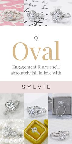 This list consists of a variety of oval engagement rings she'll absolutely fall in love with. Milgrain details and shimmering diamonds are just some of the reasons why we love this selection of oval engagement rings this season! Get ready for those warmer months with these oval engagement rings that are perfect for the occasion! Engagement Ring Guide, Double Halo Engagement Ring, Classic Engagement Rings, Oval Rings, Vintage Rings, Wedding Bands, Diamonds, White Gold, Place Card Holders