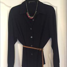 Black, Lane Bryant rayon blouse Blouse only- super versatile, tunic length blouse. Lane Bryant Tops Tunics