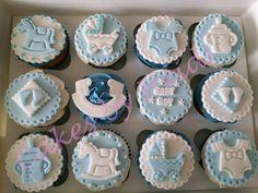 Baby Boy Cupcakes, Cupcakes For Boys, Baby Shower Cupcakes, Baby Boy Shower, Baby Showers, Fondant Toppers, Cupcake Toppers, Baptismal Souvenir, Baby Cake Topper