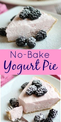 This was one of my favorite childhood treats and I have so many memories attached to a No Bake ANY FLAVOR Yogurt Pie 3 ingredients. My aunt Patrecia and her fam. Fluff Desserts, Frozen Desserts, Summer Desserts, Easy Desserts, Delicious Desserts, Dessert Recipes, Light Desserts, Healthy Desserts, Healthy Foods