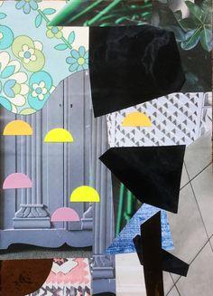 """Gråt skab""Collage A5 mixed media"