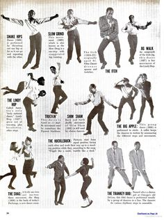 In 1961, Ebony ran photos of Al Minns and Leon James demonstrating famous dances. Hi-res scans of all three pages at link!