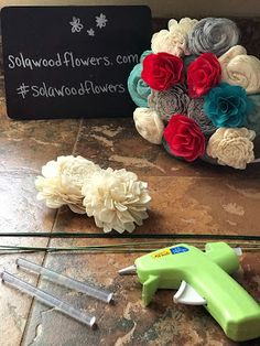 Sola Wood Flower Crafts.   This tutorial will show you how to put your sola wood flowers onto wire stems.