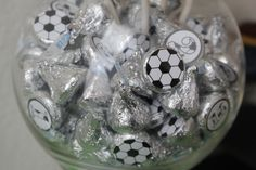 Soccer Ball Kiss/ stickers for favors?