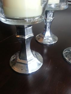 DIY Tutorial: Mercury Glass Bottom Hurricane Candleholder