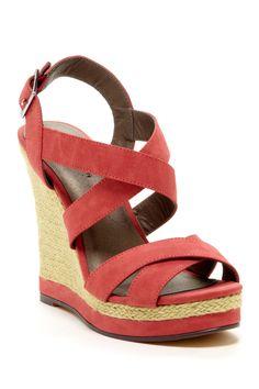 Open Toe Crisscross Platform Wedge Sandal | LFF Designs | www.facebook.com/LFFdesigns