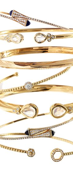 Stack up with #Marli #TempleStClair #RobertoCoin & more for a luxe look #SaksStyle