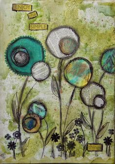 art Journal page for March challenge at Craft Hoarders Anonymous by DT member Christy Butters