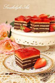 Ciasto prezentuje się świetnie. Robi się je dosyć szybko, jest bardzo łatwe a do tego pyszne. Tak przynajmniej zgodnie stwierdziły koleżank...