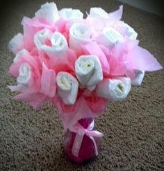 How to Make a Diaper Bouquet! Perfect for Baby Showers!