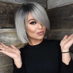 40 gorgeous gray hair styles ideas this year 26 Grey Bob Hairstyles, Cute Hairstyles For Medium Hair, Medium Hair Styles, Curly Hair Styles, Short Haircuts, Hairstyles 2018, Braid Hairstyles, Fine Hair Haircuts, Stylish Hairstyles