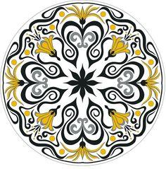 handmade ethnic apparel: jacket, coat, kaftan, dress by uzbekchapan Circular Pattern, Mandala Pattern, Pattern Art, Pattern Flower, African Crafts, Peacock Art, Blue Pottery, Celtic, Plate Art