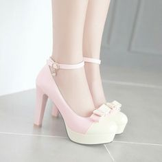 Sweet Womens Ankle Strap High Heels Platform Bowknot Prom Dress Shoes Pumps Size in Clothing, Shoes & Accessories, Women's Shoes, Heels High Heels Outfit, Dress And Heels, Dress Shoes, Dress Outfits, Dresses, Ankle Strap High Heels, Platform High Heels, Ankle Straps, Fancy Shoes