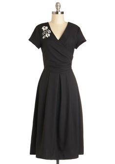 530a666a2fe88 Demure All I Want Dress in Noir. Youve been longing for a lovely frock to