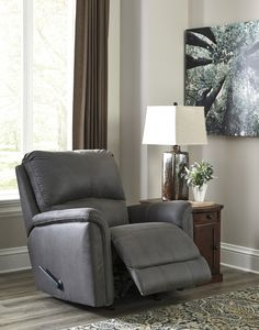 Ranika - Gray - Rocker Recliner   9021225   Recliners   Home Furniture