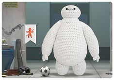 It's BAYMAX from the movie Big Hero 6!! FREE PATTERN! SO cute!