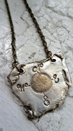 torn map pendant by designsbysky Jewelry Crafts, Jewelry Art, Jewelry Accessories, Handmade Jewelry, Jewelry Design, Compass Jewelry, Compass Necklace, Rose Necklace, Bohemian Jewelry