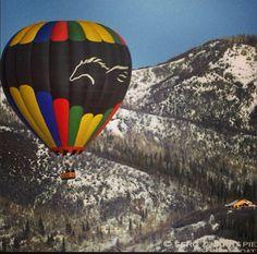 Hot air balloon ride in Colorado
