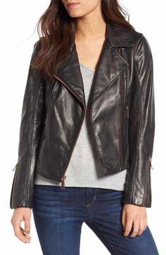 f4fca564d4282 BCBGeneration Lambskin Leather Moto Jacket Moto Jacket
