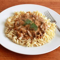 Mushrooms, paprika, fresh dill, and a specially prepared roux add depth and flavor to this delicious Hungarian mushroom pasta sauce.