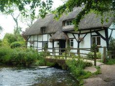 Cottage riverside at New Alresford, Hampshire