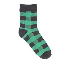 5 Pair/Lot Cotton Women Socks Brand Plaid Spring Fall Fashion Cute Red Green Compression Coolmax Ankle Female Socks Hosiery