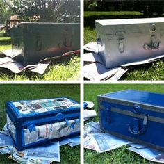 Step by step trunk spray paint with instructions