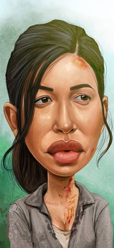 Rosita Espinosa Walking Dead Art, Walking Dead Series, Cartoon Faces, Funny Faces, Comic Book Covers, Comic Books, Drawing Things, Caricature Drawing, Wtf Face