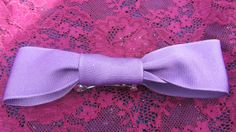 PurplePlum Hair bow 2 inch barrette by handmadeclosetloft on Etsy