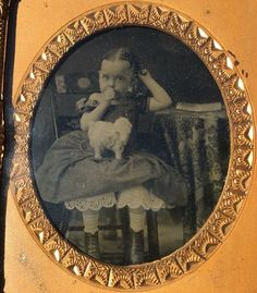 1850's AMBROTYPE Portrait ADORABLE GIRL Sucking Thumb w/ Pull Toy MARCUS A. ROOT | eBay Pull Toy, Daguerreotype, Black And White Pictures, Mona Lisa, Portrait, Toys, Children, Artwork, Ebay