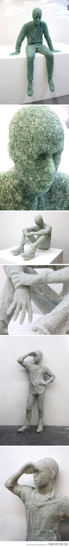 Shattered Glass Sculptures by Daniel Arsham…