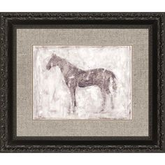 Equine Silhouette II Framed Painting Print