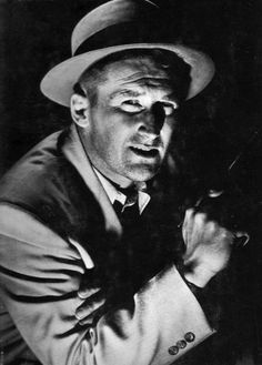 Mickey Spillane - writer & creator of Mike Hammer, acted too, even portrayed his creation Kiss Me Deadly, Raymond Chandler, Old Hollywood Style, Private Eye, Writers And Poets, Book Writer, Tough Guy, Dieselpunk, Classic Movies