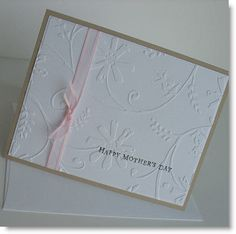 Mothers Day Card  Handmade Blank Note Card Batch by Sentimentalist, $2.50