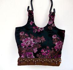 Cute Handbag  Fringe Purse  Best  Handbag  Black Purse by ClassA, $52.51