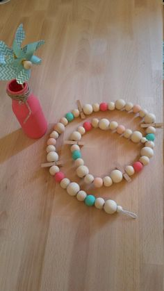 Wooden+bead+Garland.+by+Ciloumakes+on+Etsy