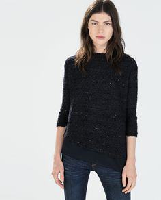 ASYMMETRIC HEM SWEATER from Zara