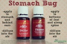Young Living Essential Oils: Di-Gize & Thieves for Stomach Flu