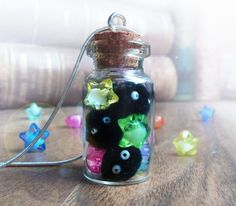 Soot sprites bottle necklace, hayao miyazaki Spirited Away Totoro necklace, teen kawaii necklace, anime geek jewelry, geeky gifts for her