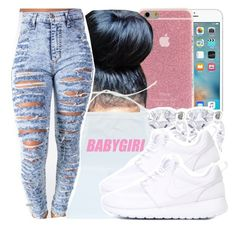 """"""""""" by missy143lol ❤ liked on Polyvore featuring Miadora and NIKE"""