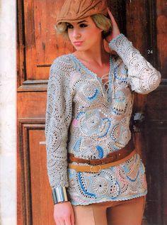 Irish crochet &: FREEFORM TUNIC...ФРИФОРМ ТУНИКА