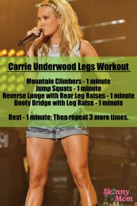 Carrie Underwood's Leg Workout-Maybe it is maybe it isn't, but it's still a great little work out!