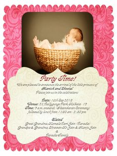 10 Best Baby Naming Ceremony Invitation Cards Images In 2018