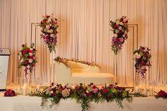 Alisha Fazeel // Surrey Wedding by Varsola Visuals - Moyiki Sites Reception Stage Decor, Wedding Backdrop Design, Wedding Stage Design, Wedding Reception Backdrop, Engagement Stage Decoration, Wedding Hall Decorations, Desi Wedding Decor, Marie, Backdrops