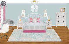 Preppy Bedroom Design by Havenly Interior Designer Brooke Preppy Bedroom, Design Process, Kids Rugs, House Design, Interior Design, Inspiration, Home Decor, Nest Design, Biblical Inspiration
