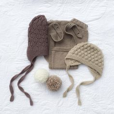 "97 likerklikk, 17 kommentarer – Kismet & Co (@kismetandco) på Instagram: ""😍Neutral knits 😍 Featured here are, (from left to right) our honeycomb hat in oilskin, the Kismet &…"""