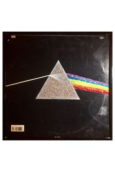 Glittered Pink Floyd Dark Side of the Moon Vintage Record