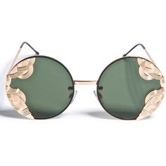Spitfire British Riviera Sunglasses ($45) ❤ liked on Polyvore featuring accessories, eyewear, sunglasses, glasses, rounded sunglasses, lightweight sunglasses, metal glasses, metal-frame sunglasses and spitfire glasses